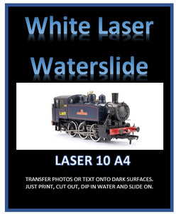 White LASER Waterslide Decal Paper - Laser print your own custom transfers