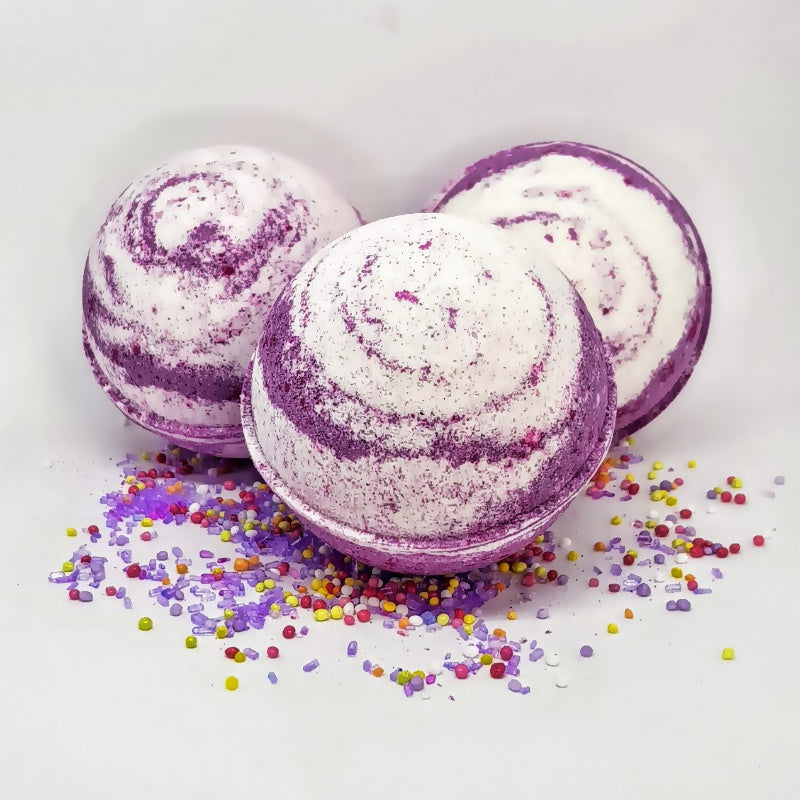 Black Raspberry Vanilla Bath Bomb Ball