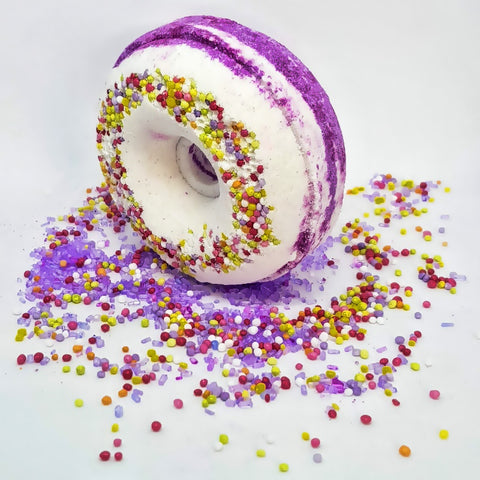Image of Black Raspberry Vanilla Bath Bomb Donut