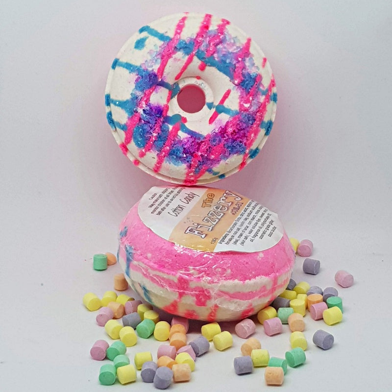 Cotton Candy Bath Bomb Donut