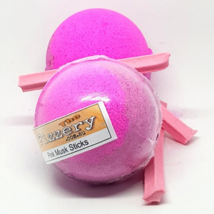 Pink Musk Sticks Bath Bomb Ball