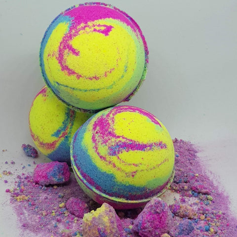 Image of Rainbow Paddle Pop Bath Bomb Ball