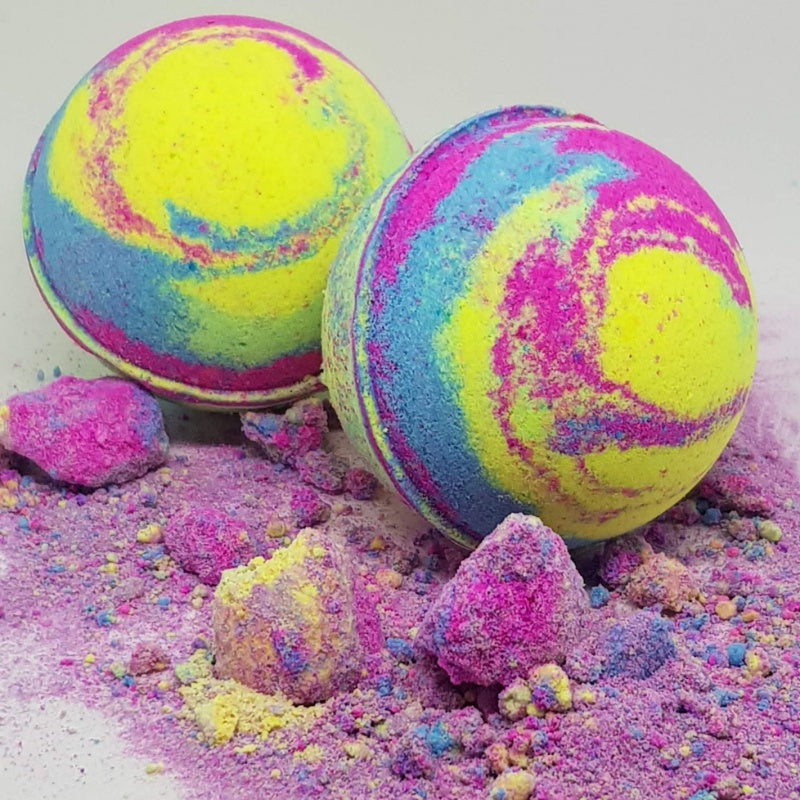 Rainbow Paddle Pop Bath Bomb Ball