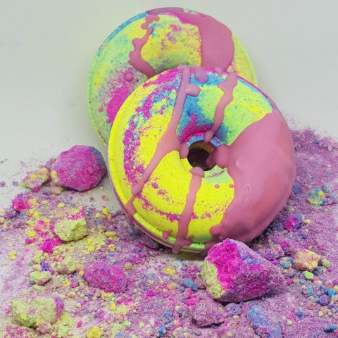 Image of Rainbow Paddle Pop Bath Bomb Donut