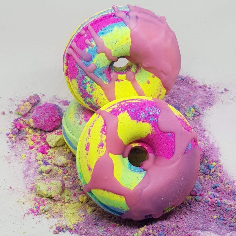 Rainbow Paddle Pop Bath Bomb Donut