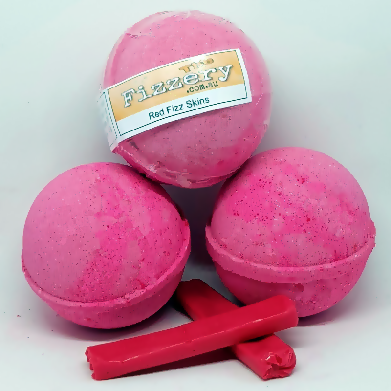 Red Fizz Skins Bath Bomb Ball