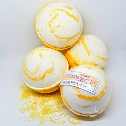 Image of Honey And Coconut Milk Bath Bomb Ball