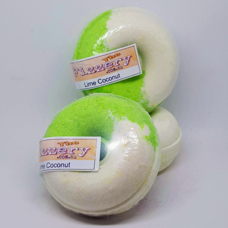 Coconut Lime Bath Bomb Donut