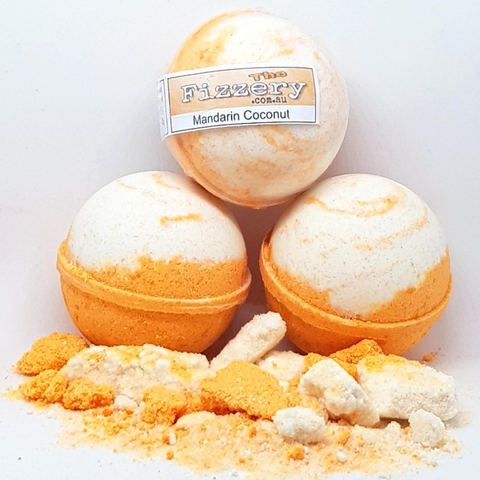 Image of Coconut Mandarin Bath Bomb Ball