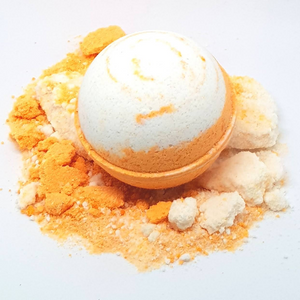 Coconut Mandarin Bath Bomb Ball