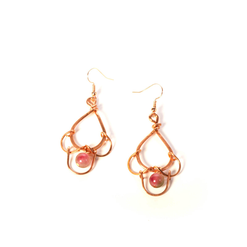scalloped copper earrings by tinklet jewelry