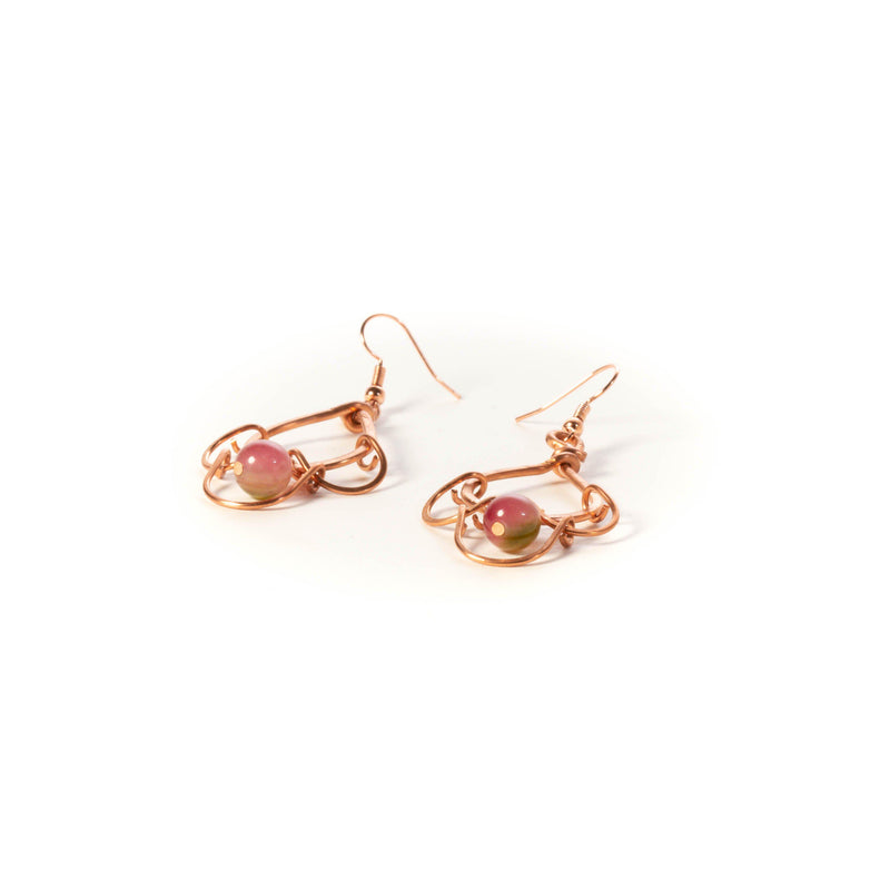fun pure copper earrings