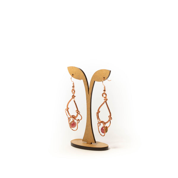chandelier copper earrings