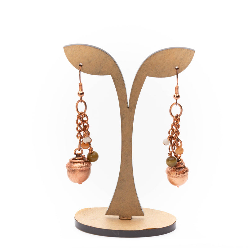 acorn dangle earrings by tinklet jewelry