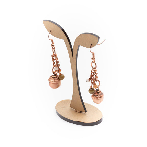 woodland natural acorn earrings