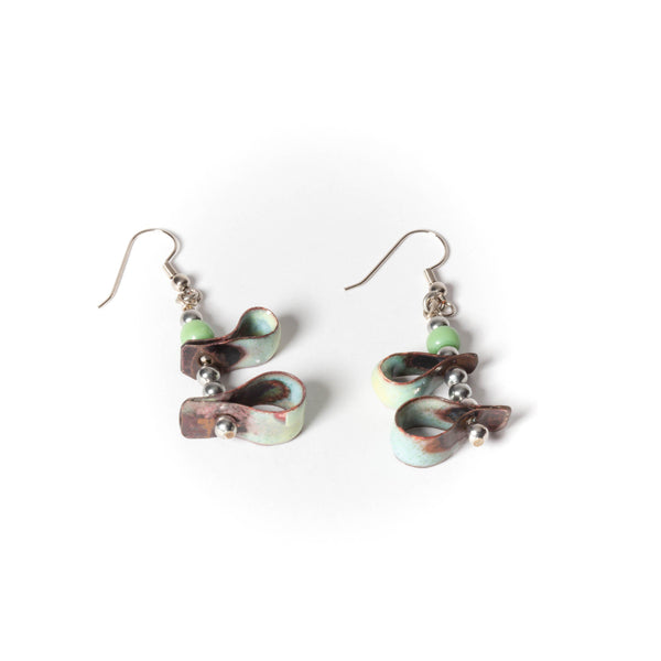 kinetic enamel earrings