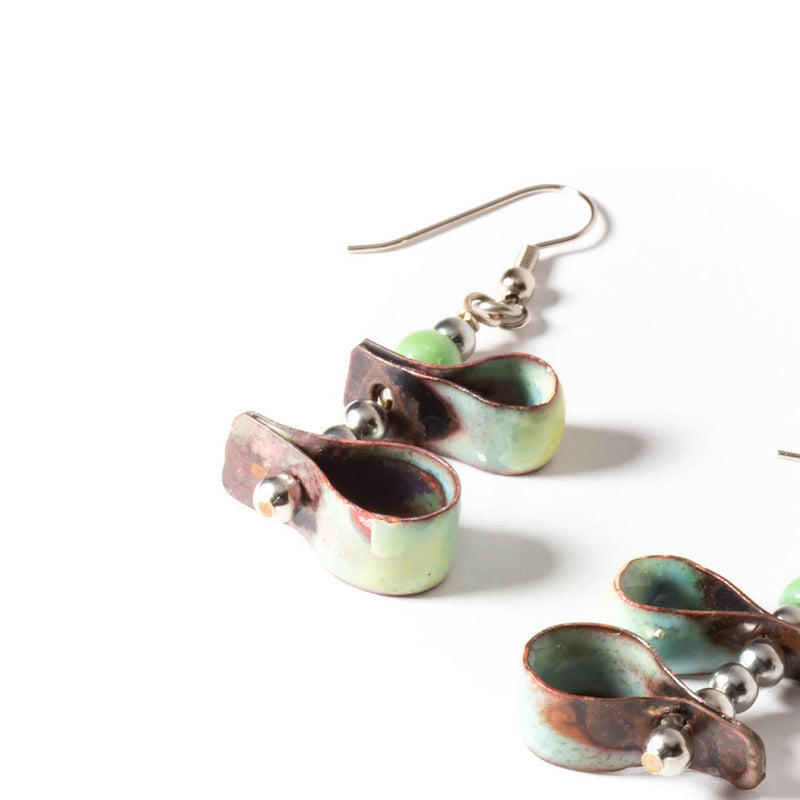 playful enamel earrings by tinklet jewelry