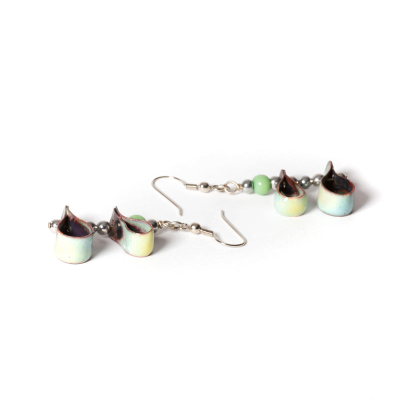 Enamel Copper Earrings | Dangles | Tinklet Jewelry
