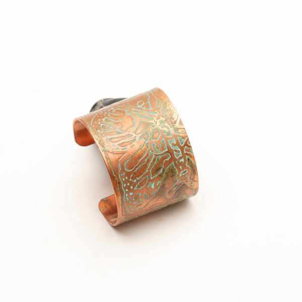 wide copper cuff
