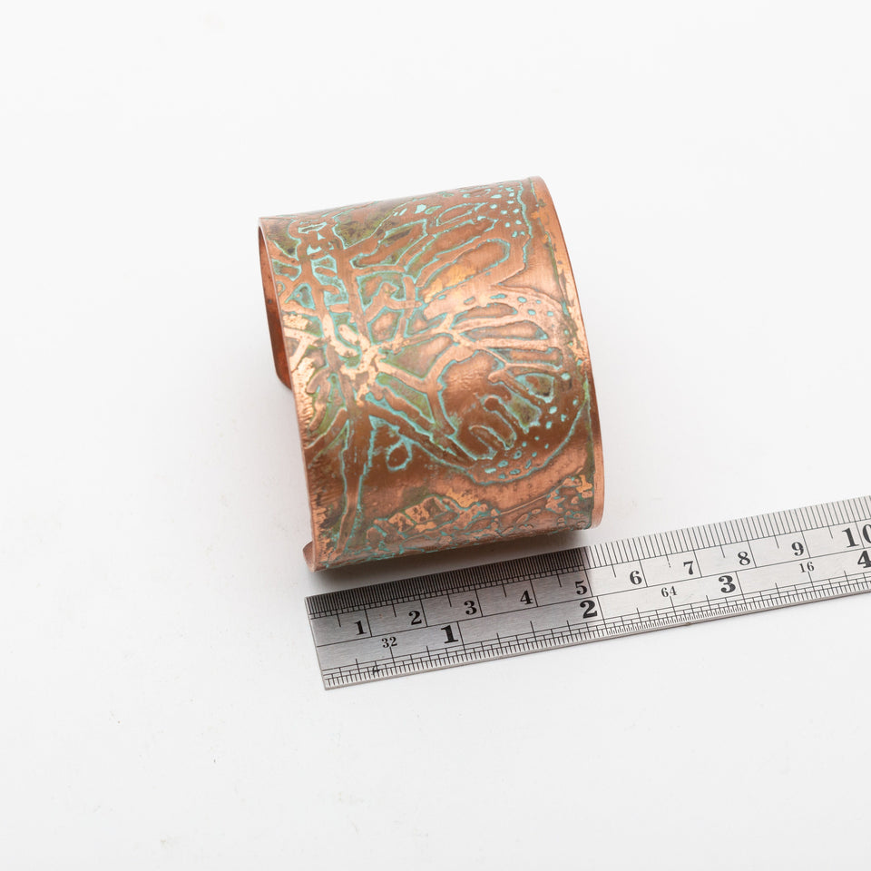 Butterfly Copper Cuff Abstract Design | Tinklet Jewelry Bracelet Tinklet