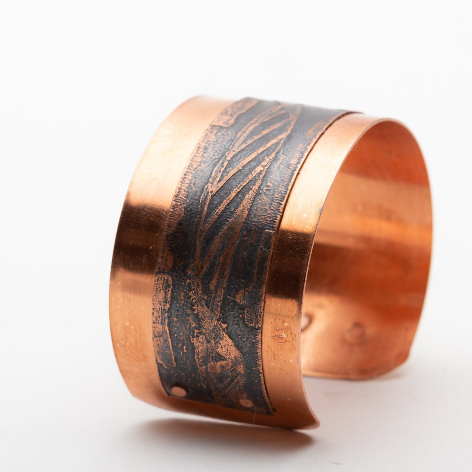Copper Cuff with DNA Strand Etching | Tinklet Jewelry Bracelet Tinklet