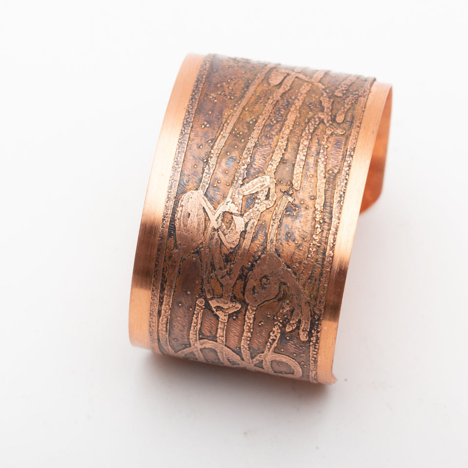 Copper Cuff with Musical Notes | Tinklet Jewelry Bracelet Tinklet