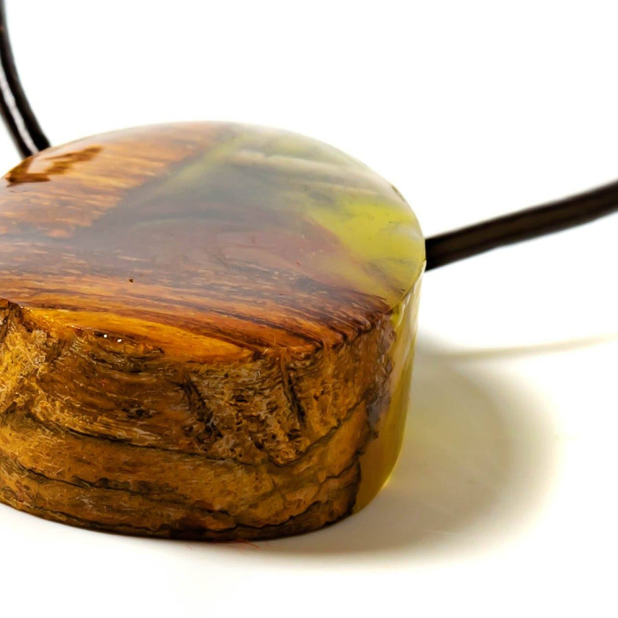 Weathered Wood and Resin Pendant Necklace | Tinklet Jewelry necklace/pendant Tinklet