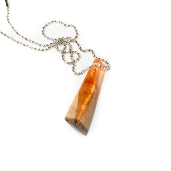 triangular wood and resin pendant by tinklet jewelry