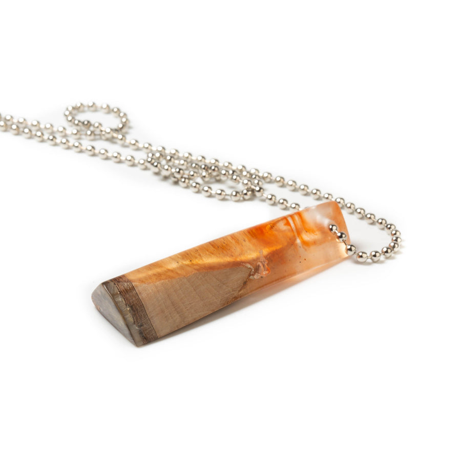 Triangular Wood and Resin Pendant | Tinklet Jewelry necklace/pendant Tinklet