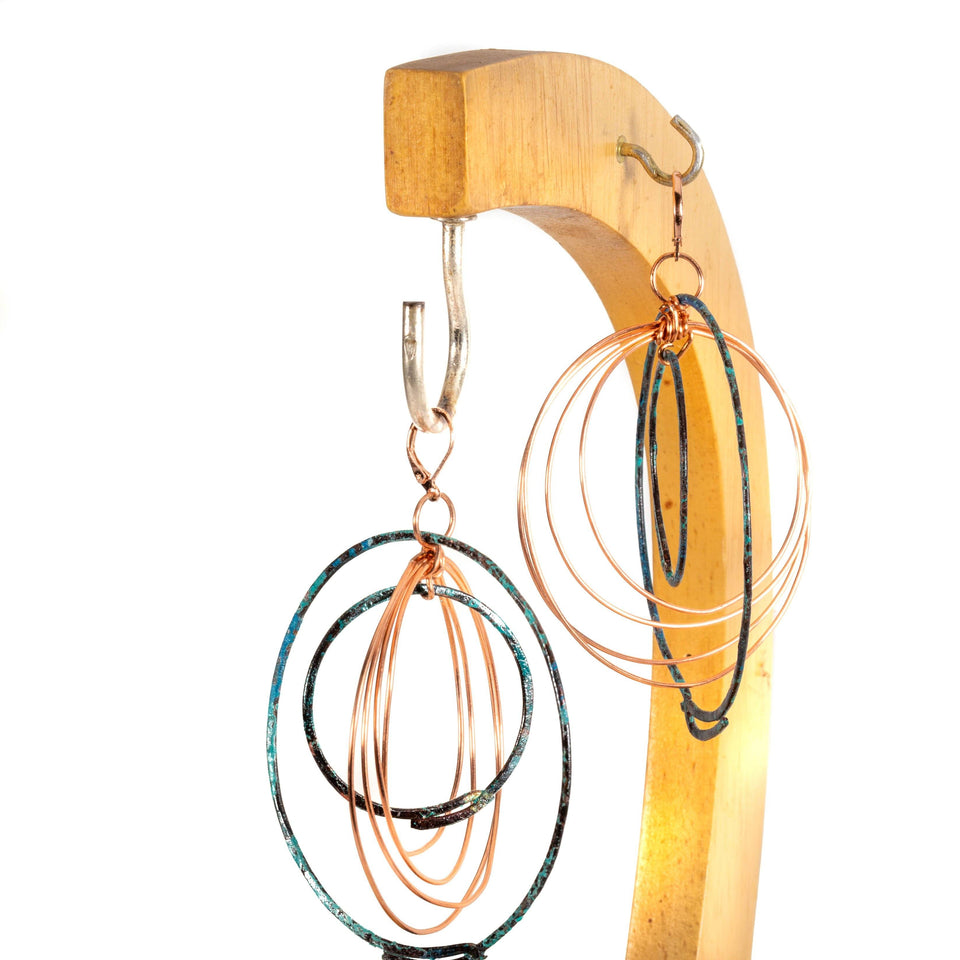 Kinetic Copper Circle Hoop Earrings | Tinklet Jewelry