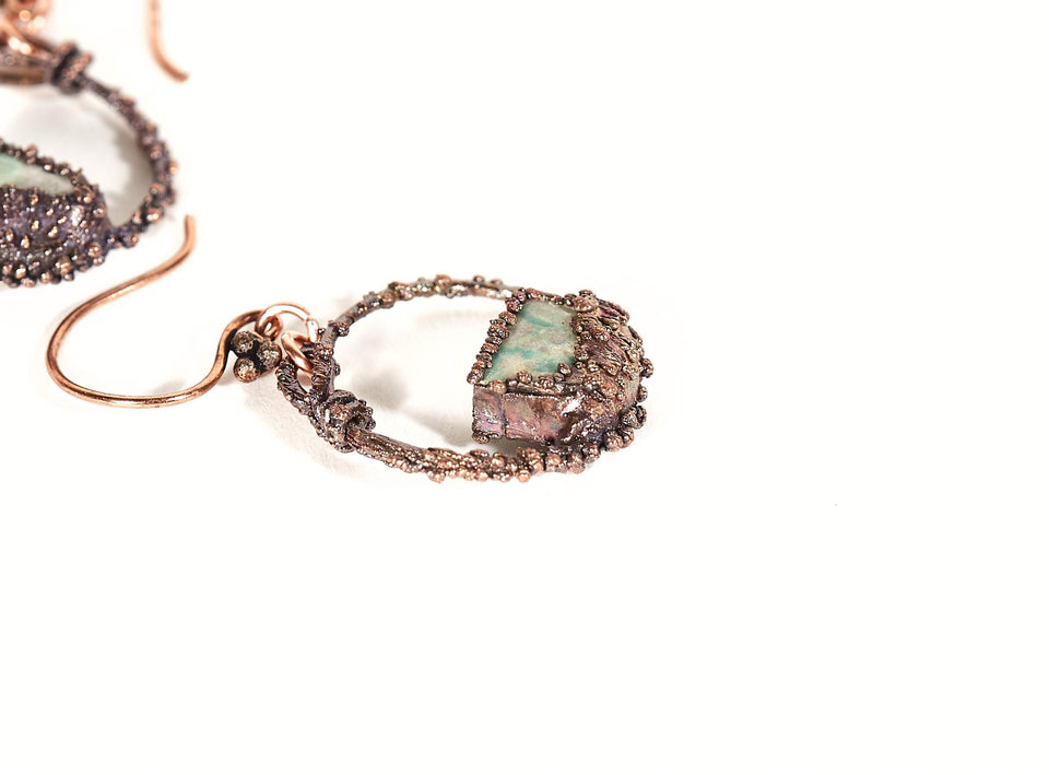 Turquoise Hoop Copper Earrings | Tinklet Jewelry Earring Tinklet