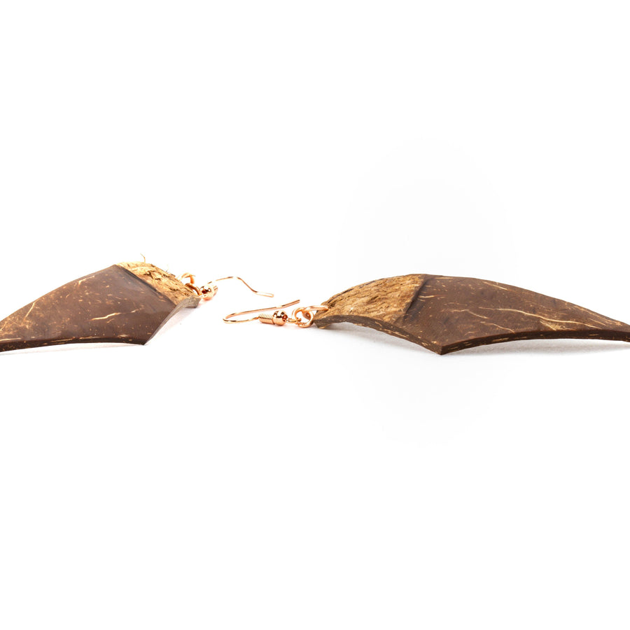 Earthy Boho Natural Coco Shell Earrings | Dangles | Tinklet Jewelry Earring Tinklet