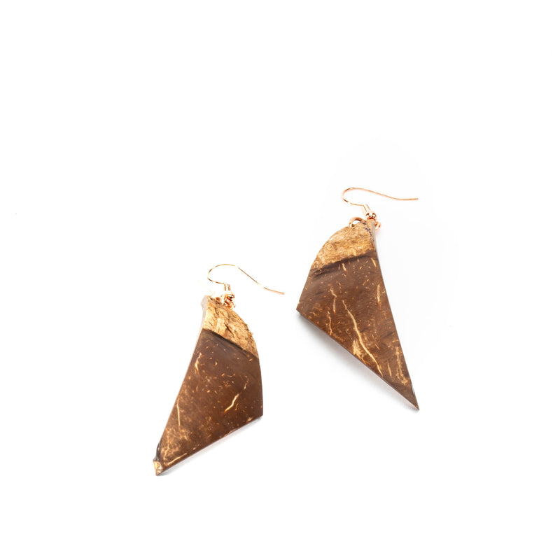 Earthy Boho Natural Coco Shell Earrings | Dangles | Tinklet Jewelry