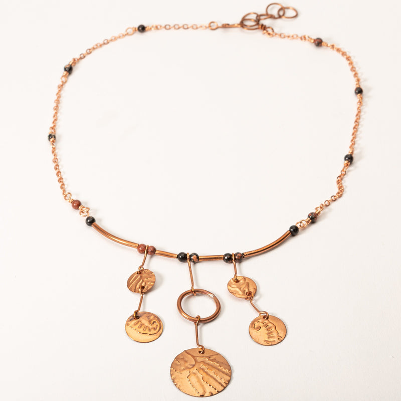 Petite Copper Statement Necklace | Tinklet Jewelry