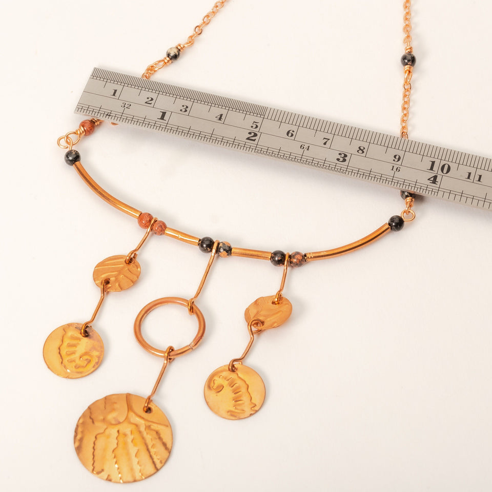 Petite Copper Statement Necklace | Tinklet Jewelry necklace/pendant Tinklet
