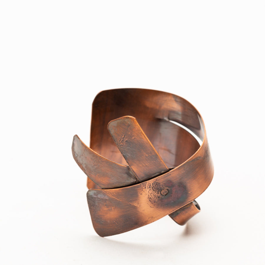 Copper Cuff Twisted Metal Bracelet | Tinklet Jewelry Bracelet Tinklet