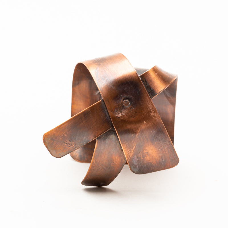 asymmetrical copper cuff