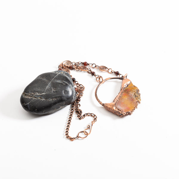 Natural Jasper Agate Pendant Necklace | Tinklet Jewelry