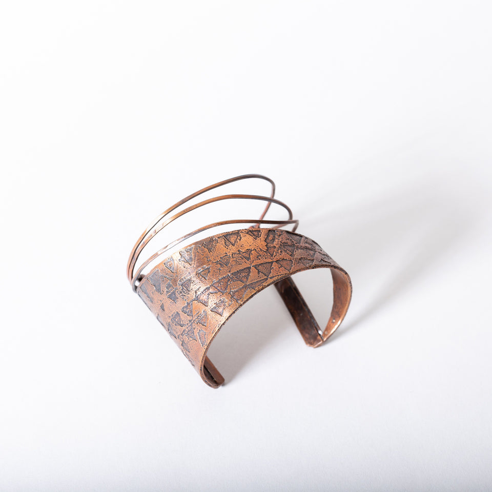 Copper Cuff Bracelet with Open Face Design | Tinklet Jewelry Bracelet Tinklet