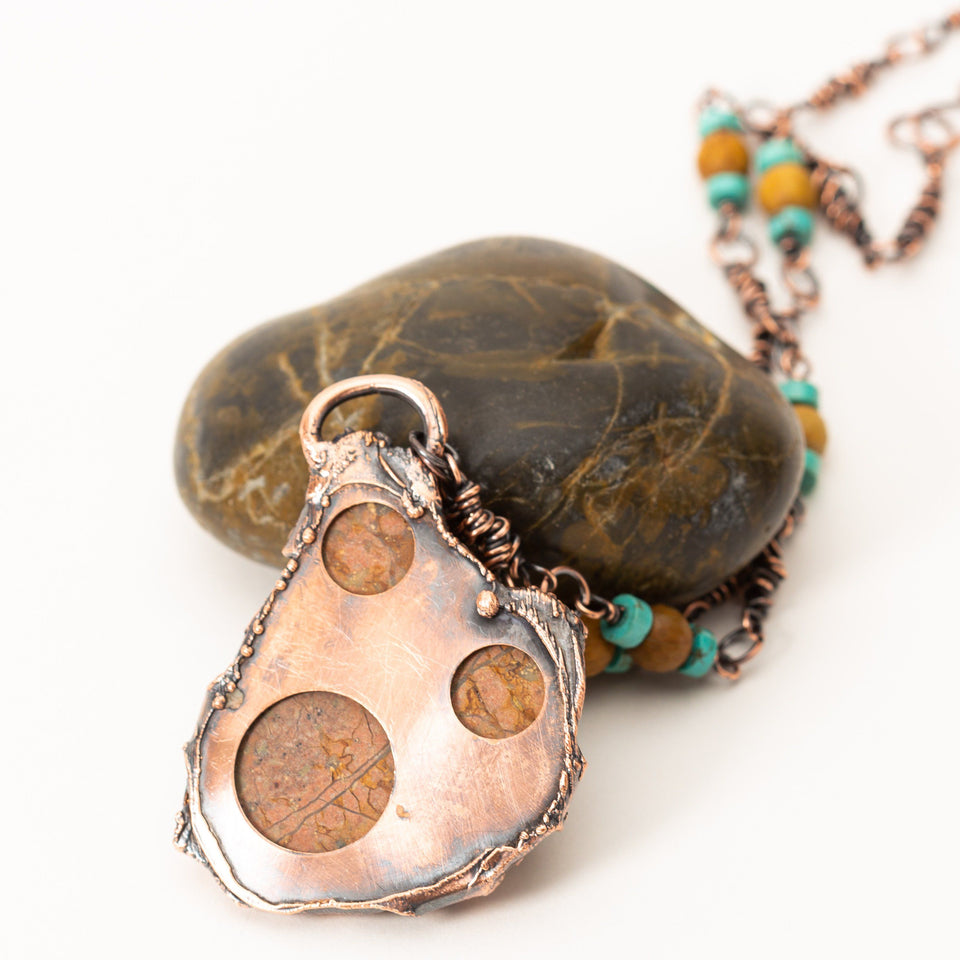 Natural Turquoise Pendant Electroformed Copper | Tinklet Jewelry necklace/pendant Tinklet