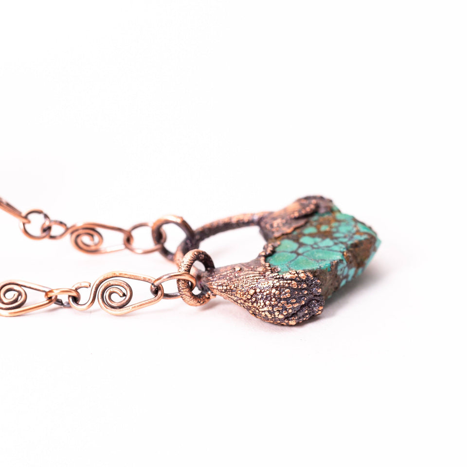 Small Turquoise Electroformed Copper Pendant | Tinklet Jewelry necklace/pendant Tinklet