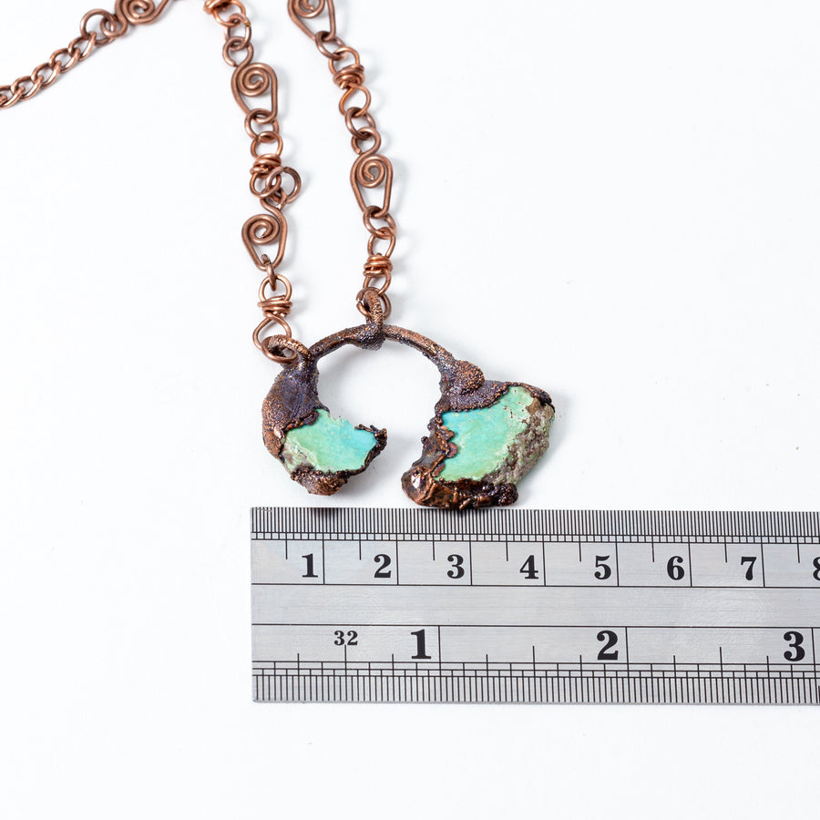 Small Turquoise and Electroformed Copper Pendant | Tinklet Jewelry necklace/pendant Tinklet