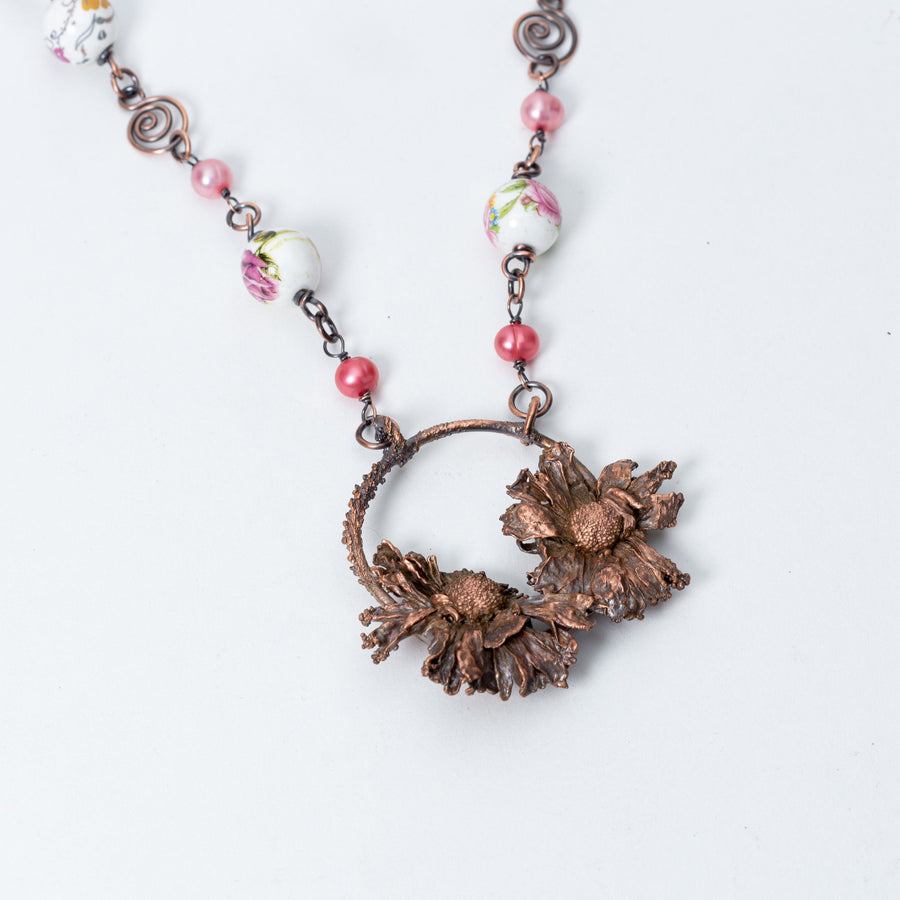 Wild Daisy Botanical Pendant Electroformed Copper | Tinklet Jewelry necklace/pendant Tinklet