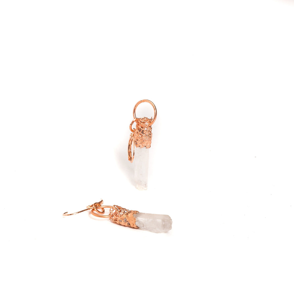 Quartz Crystal Point Earrings | Tinklet Jewelry Earring Tinklet