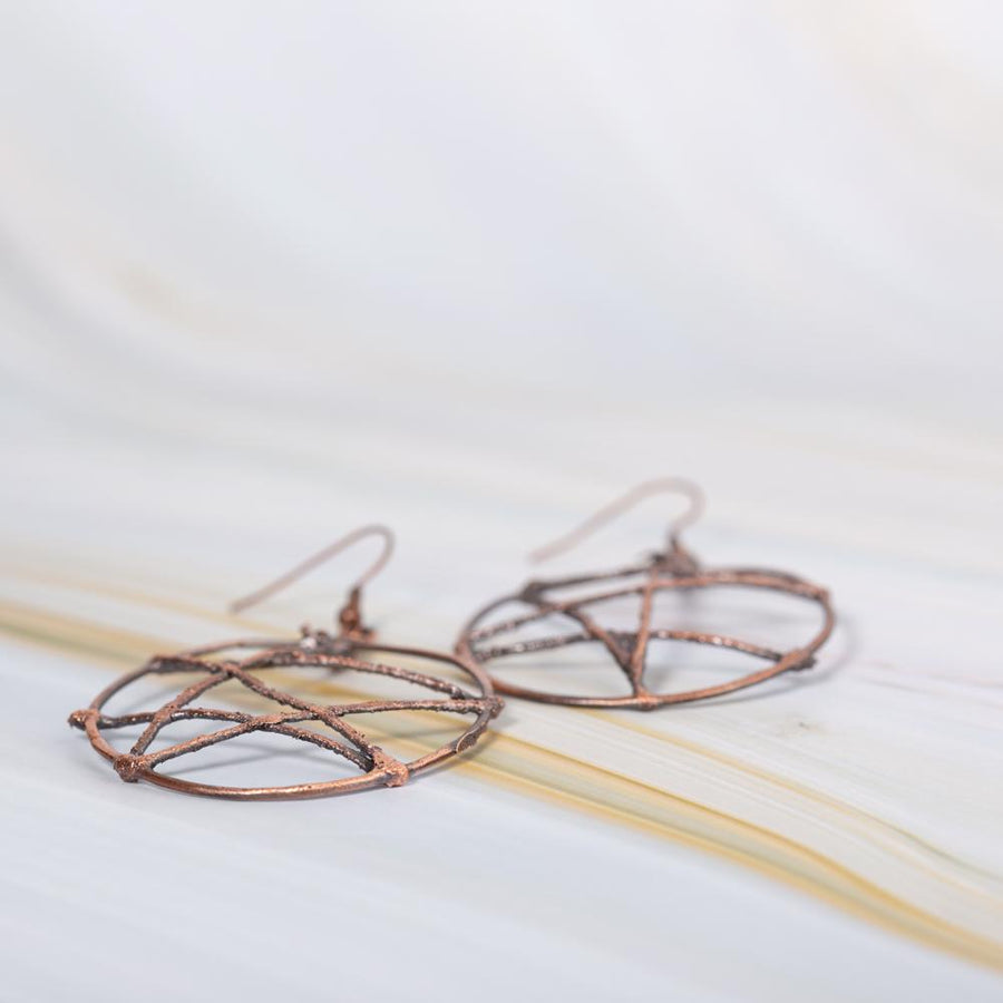 Big Lightweight Copper Open Face Round Earrings | Tinklet Jewelry Earring Tinklet