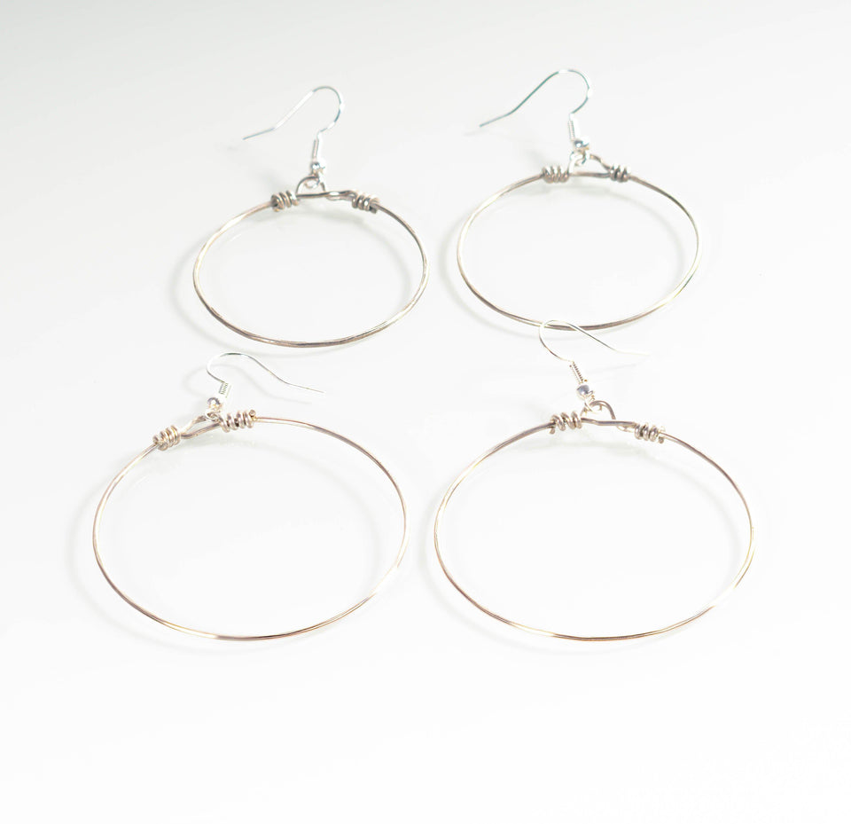Classic Boho Style Silver Hoop Earrings | Tinklet Jewelry Earring Tinklet