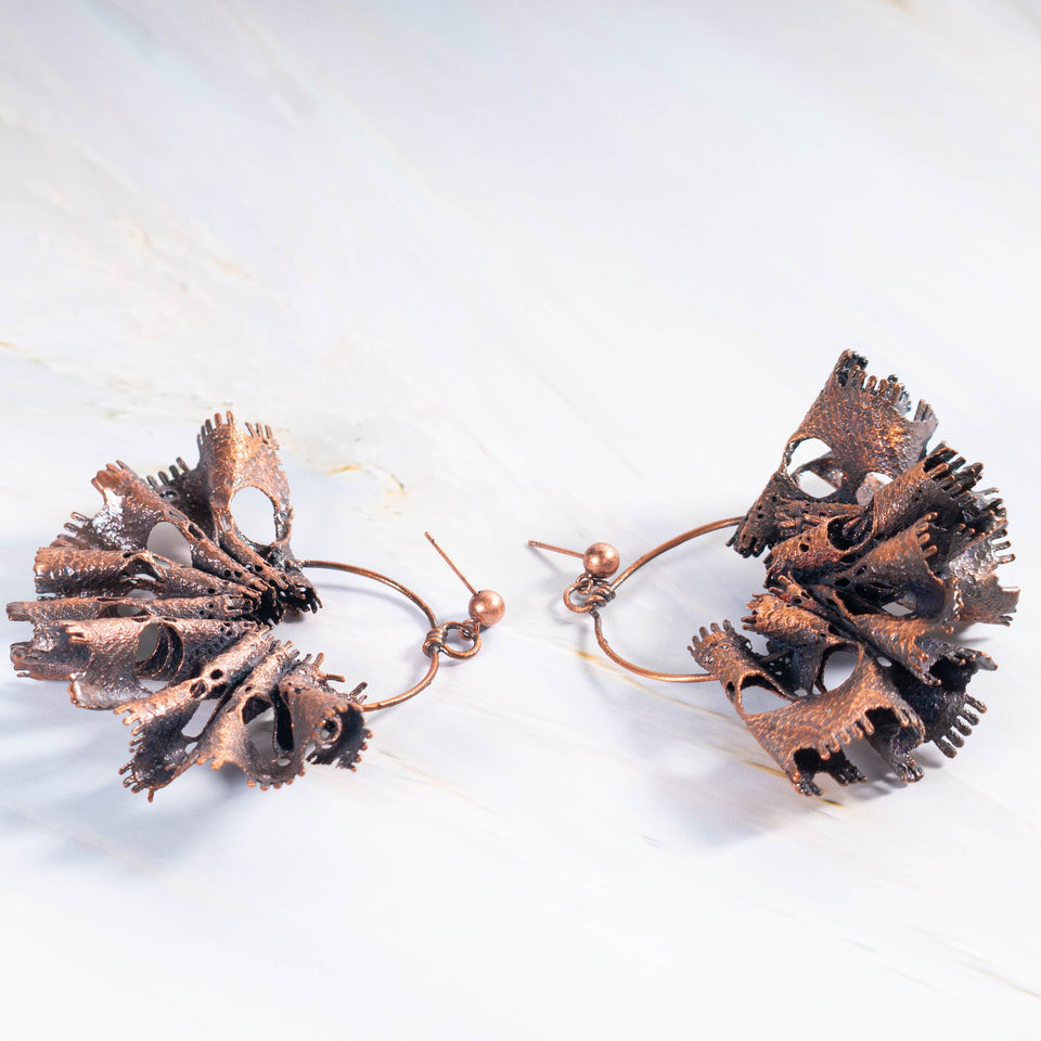 Bridal Lace Electroformed Copper Earrings | Tinklet Jewelry Earring Tinklet