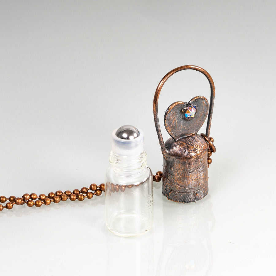 Copper Roller Bottles Essential Oil Diffuser | Tinklet Jewelry necklace/pendant Tinklet Jewelry Heart