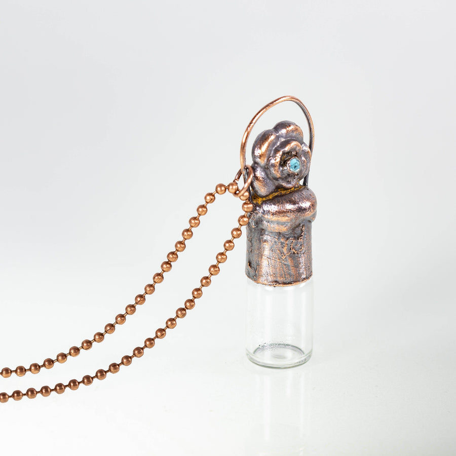 Copper Roller Bottles Essential Oil Diffuser | Tinklet Jewelry necklace/pendant Tinklet Jewelry Flower