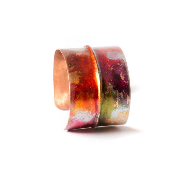Bracelet - colorful copper cuff by tinklet jewelry